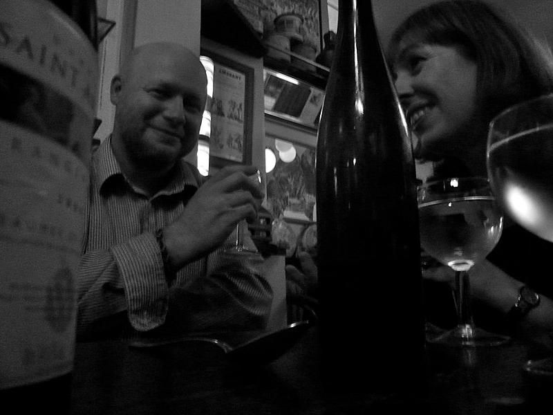 Ewen and Victoria at Chez Janou