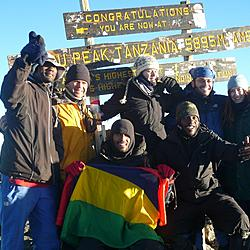 Our group at Uhuru Peak | All 5 of us made it to the top. No vomit!