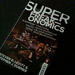 The cover of the British version of Super Freakonomics is so much more badass than the American version