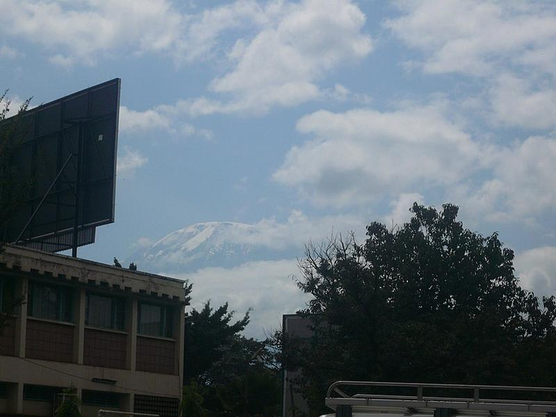 View of Kilimanjaro from Moshi