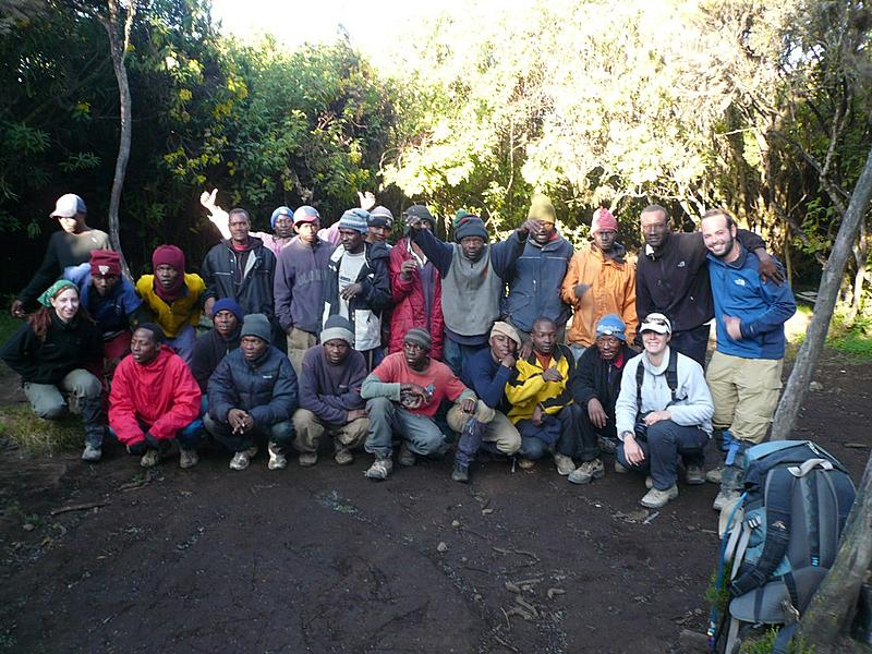 Us and our Crew | The guides and porters that got us to the summit of Kili.