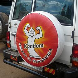 "Kondom | Google translate tells me the tagline means ""power protect you"""