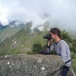 Atop Huanya Picchu looking down at Machu Picchu   Atop Huanya Picchu looking down at Machu Picchu