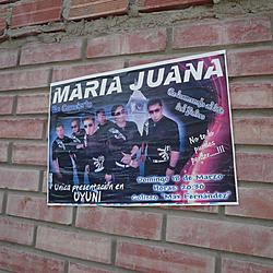 Local band: Maria Juana. Subtle they are not. | Local band: Maria Juana. Subtle they are not.
