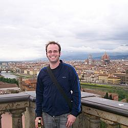 Me at Piazzale Michelangelo overlooking the town