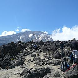 Kilimanjaro Day 3 | Julienne and I take pictures of each other.