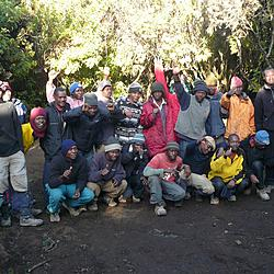 Our team | Our team of guides and porters that got us to the top of Kilimanjaro