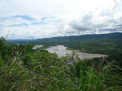 Overlooking the Amazon river.